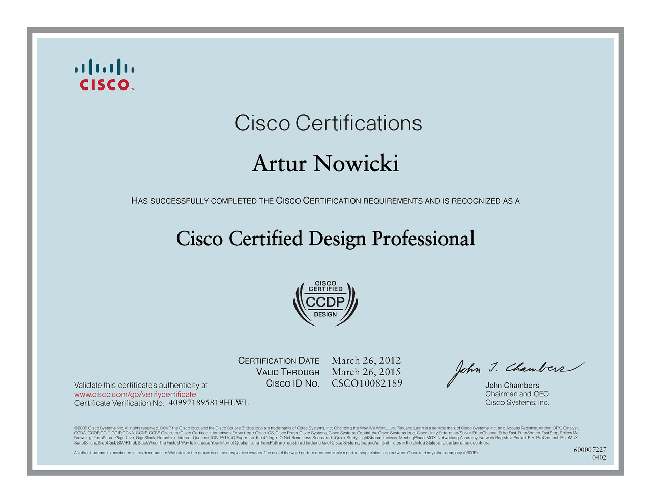 Artur nowicki specjalista cisco microsoft checkpoint ccie expired 1betcityfo Choice Image